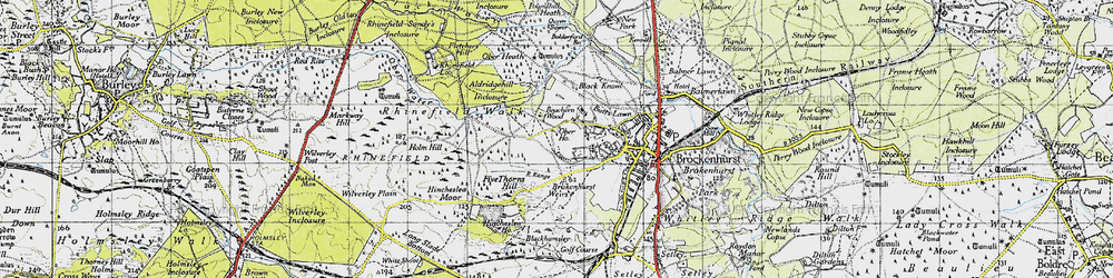 Old map of White Moor in 1940
