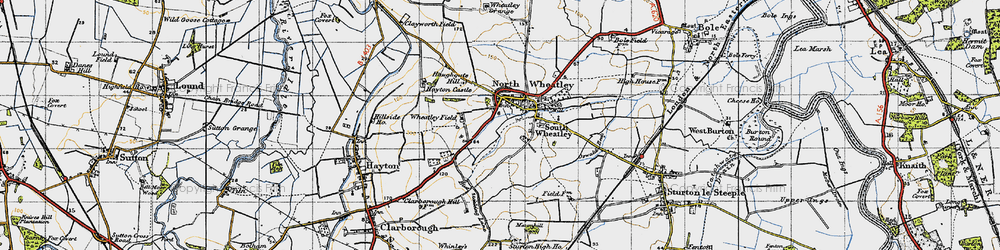 Old map of Wheatley Field in 1947