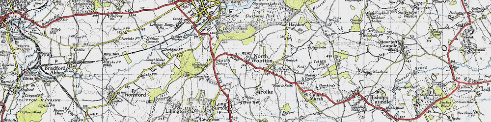 Old map of Westhill Lodge in 1945