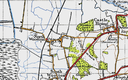 Old map of Wooton Marsh in 1946