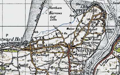 Old map of Northam in 1946
