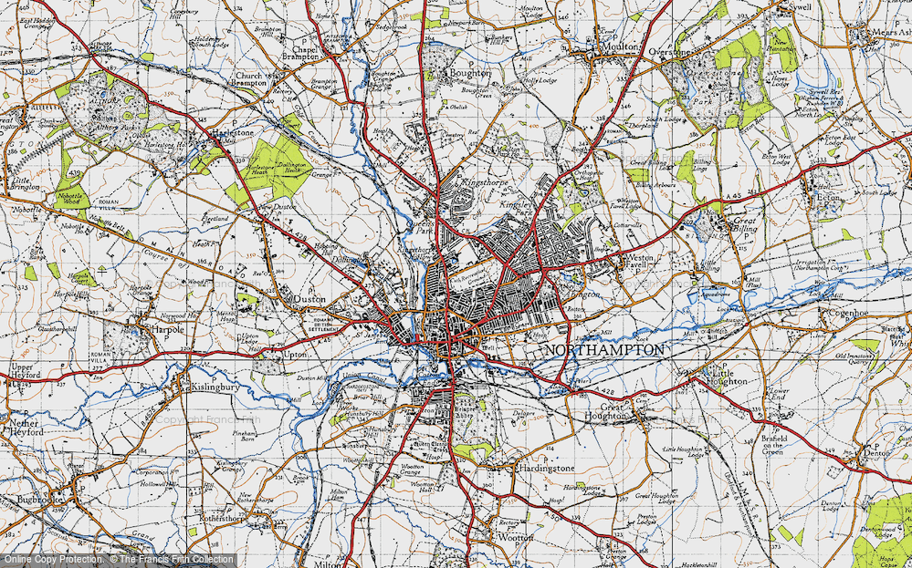 Old Map of Northampton, 1946 in 1946