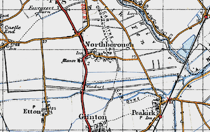 Old map of Northborough in 1946