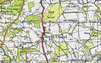 Old map of Northchapel in 1940