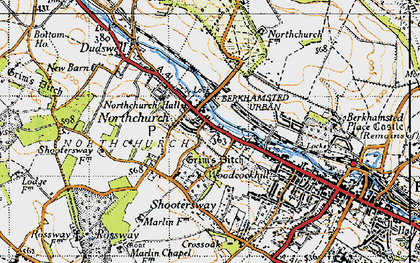 Old map of Northchurch in 1946