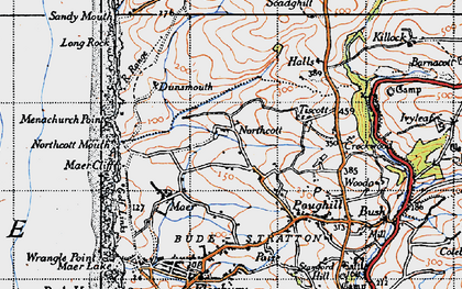 Old map of Northcott in 1946