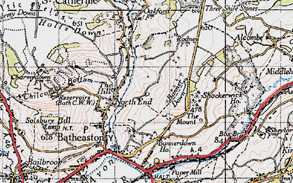 Old map of Banner Down in 1946