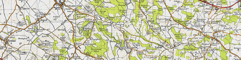 Old map of Wormsley Park in 1947
