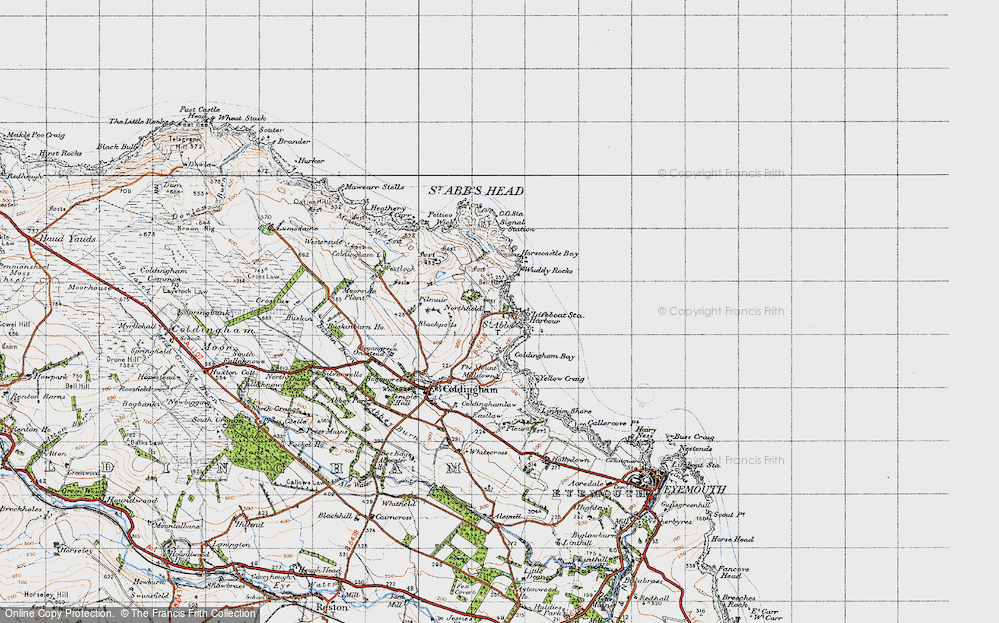 Old Map of Historic Map covering Linkim Shore in 1947