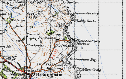Old map of Wuddy, The in 1947
