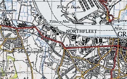 Old map of Northfleet in 1946