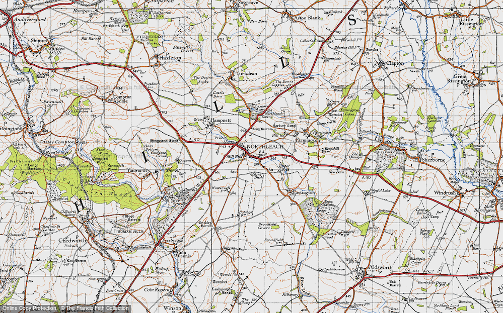 Old Map of Northleach, 1946 in 1946