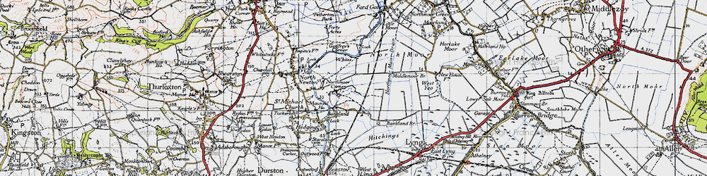 Old map of White's in 1945