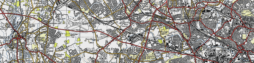 Old map of Northolt in 1945