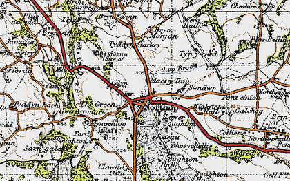 Old map of Northop in 1947
