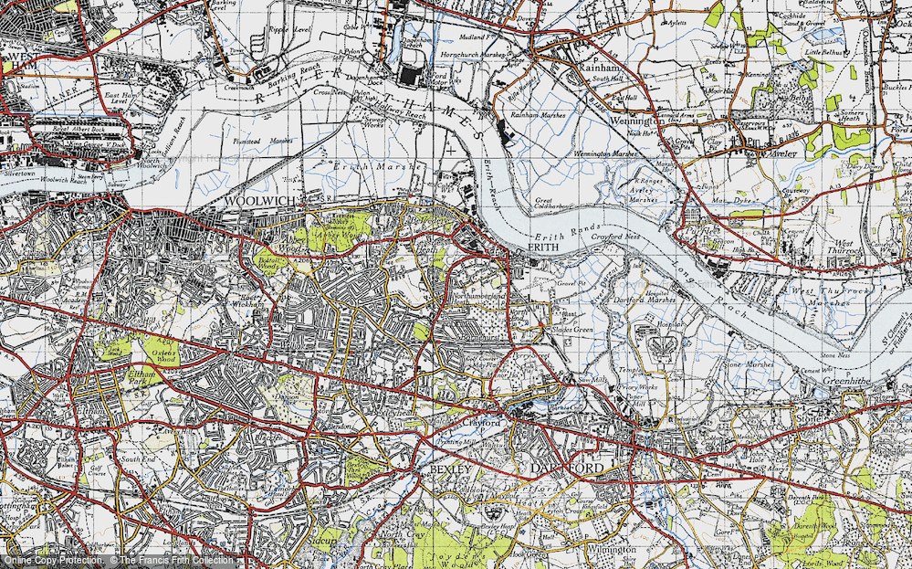 Old Map of Northumberland Heath, 1946 in 1946