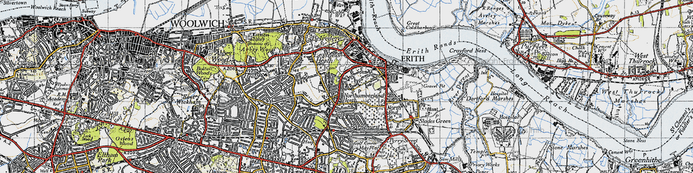 Old map of Northumberland Heath in 1946