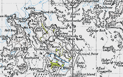 Old map of St Helen's in 1946