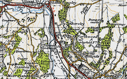 Old map of Northwood in 1947