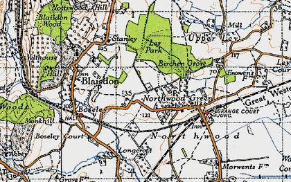 Old map of Ley Park in 1947