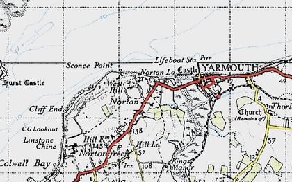 Old map of Norton in 1945