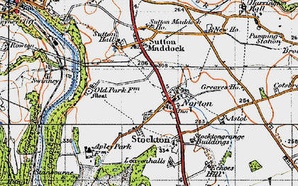 Old map of Astol in 1946