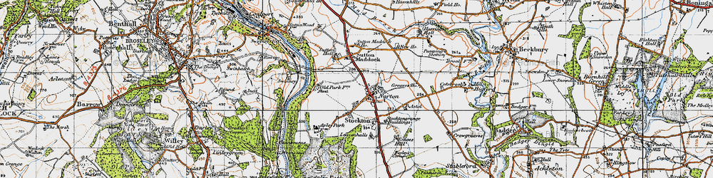 Old map of Norton in 1946