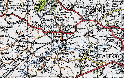 Old map of Wey Ho in 1946
