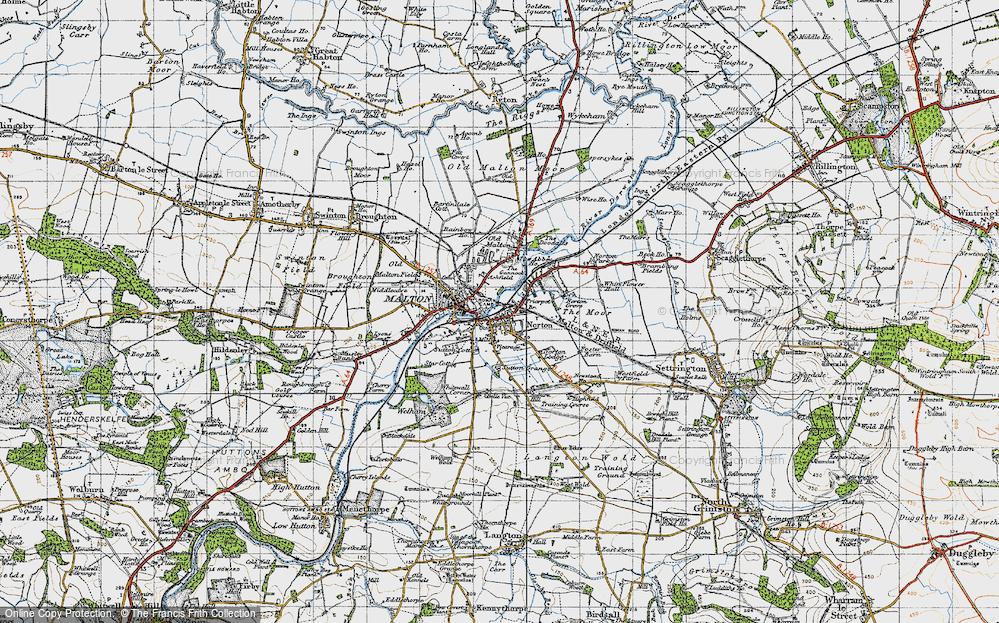 Old Map of Norton-on-Derwent, 1947 in 1947