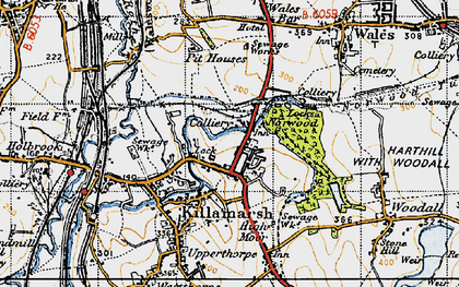 Old map of Norwood in 1947