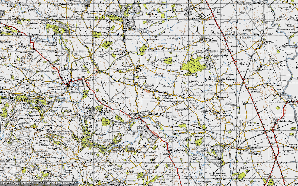 Old Map of Historic Map covering Langwith Ho in 1947