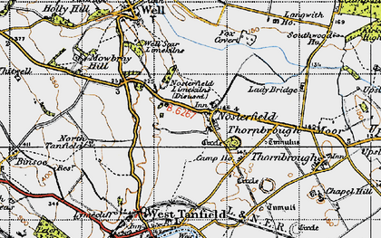 Old map of Langwith Ho in 1947