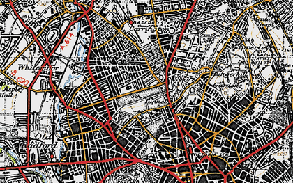 Old map of Nottingham in 1946