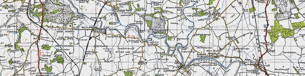 Old map of Wharfe Ings in 1947