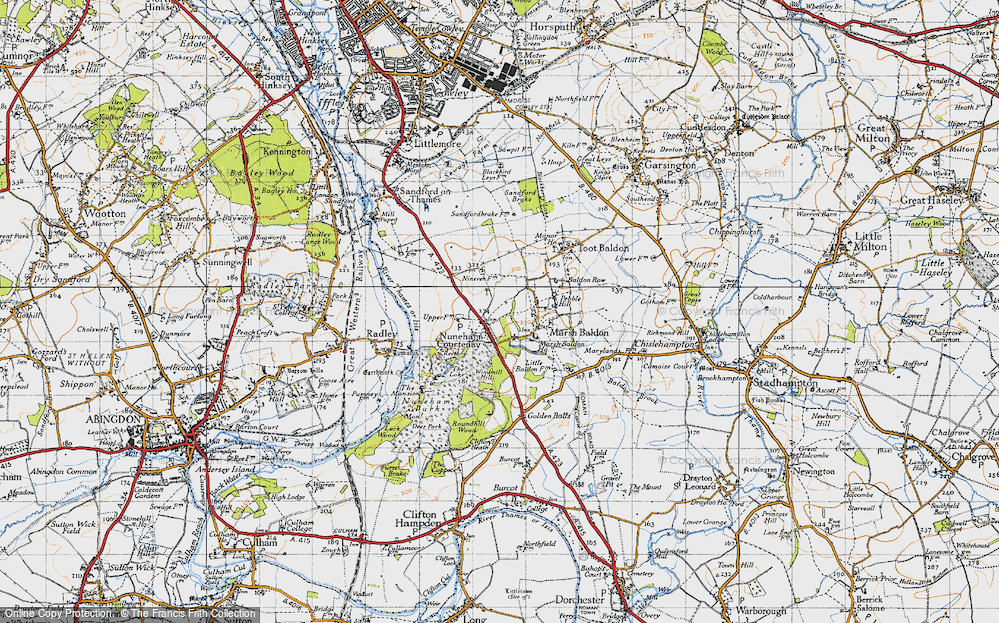 Old Map of Nuneham Courtenay, 1947 in 1947