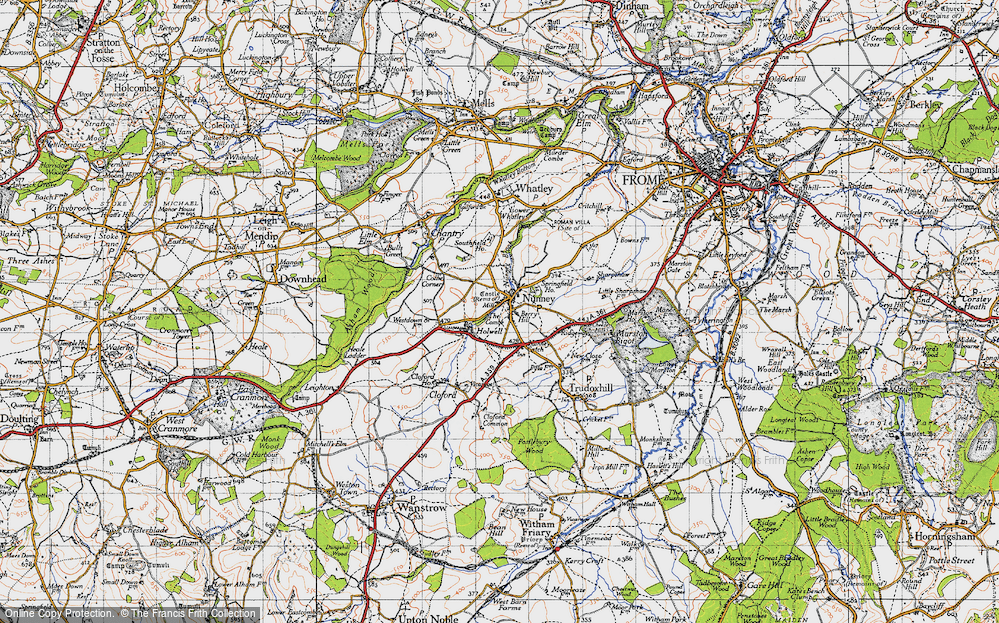Old Map of Nunney, 1946 in 1946