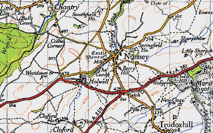 Old map of Nunney in 1946