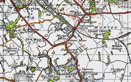 Old map of Nunthorpe in 1947