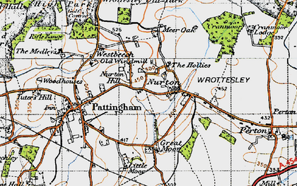 Old map of Worttesley Old Park in 1946