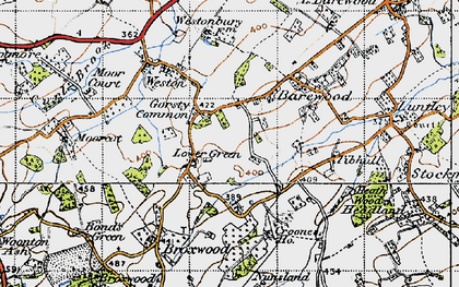 Old map of Tibhall in 1947