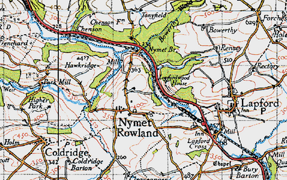 Old map of Toatley in 1946