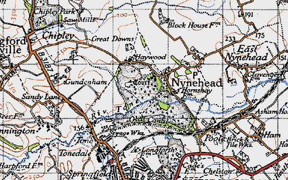 Old map of Nynehead in 1946