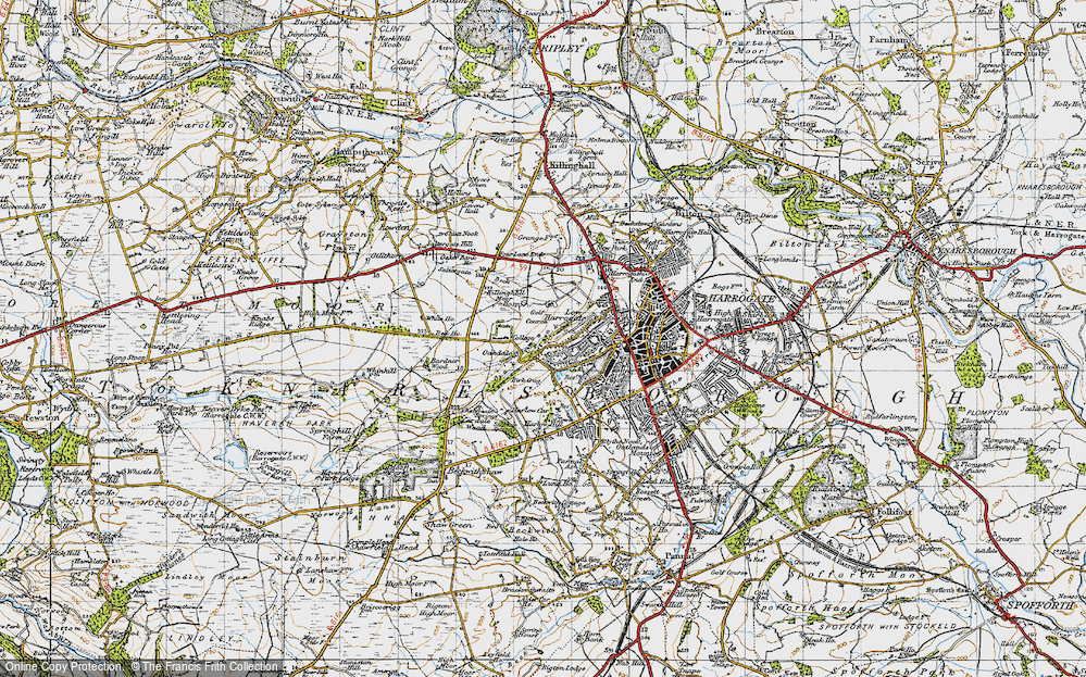 Old Map of Historic Map covering Bardner Wood in 1947