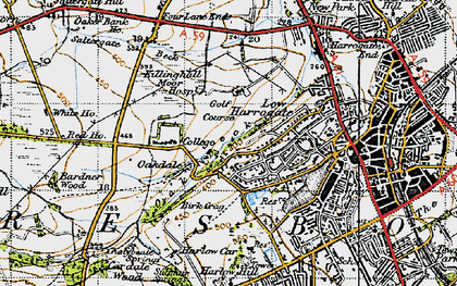 Old map of Bardner Wood in 1947