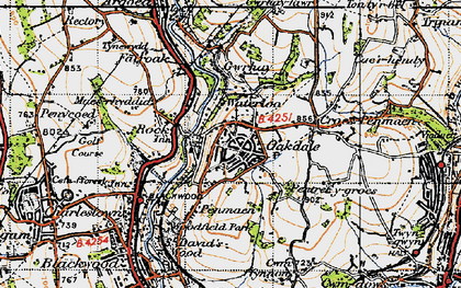 Old map of Oakdale in 1947