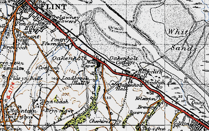Old map of Lead Brook in 1947