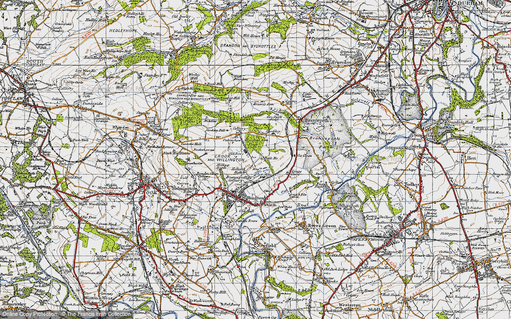 Old Map of Historic Map covering Lingey Close in 1947