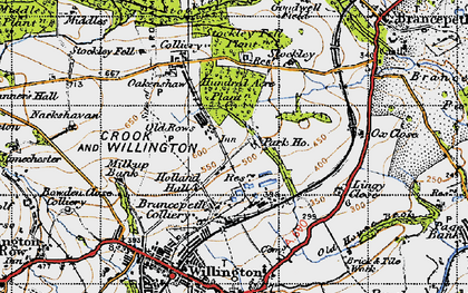 Old map of Lingey Close in 1947