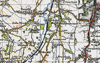 Old map of Oakerthorpe in 1947