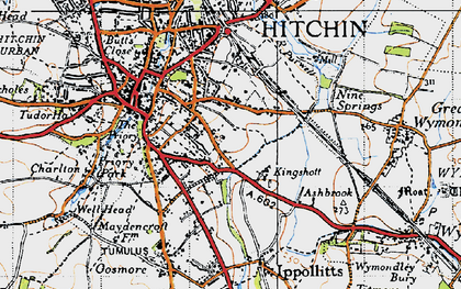 Old map of Oakfield in 1946